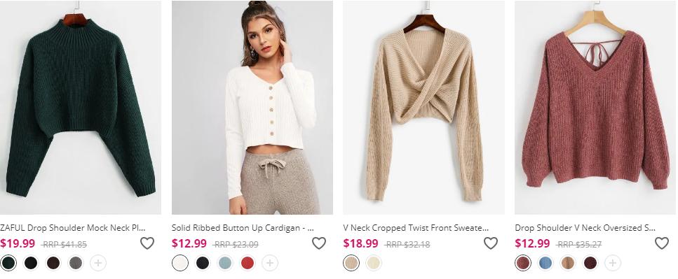 zaful women clothing