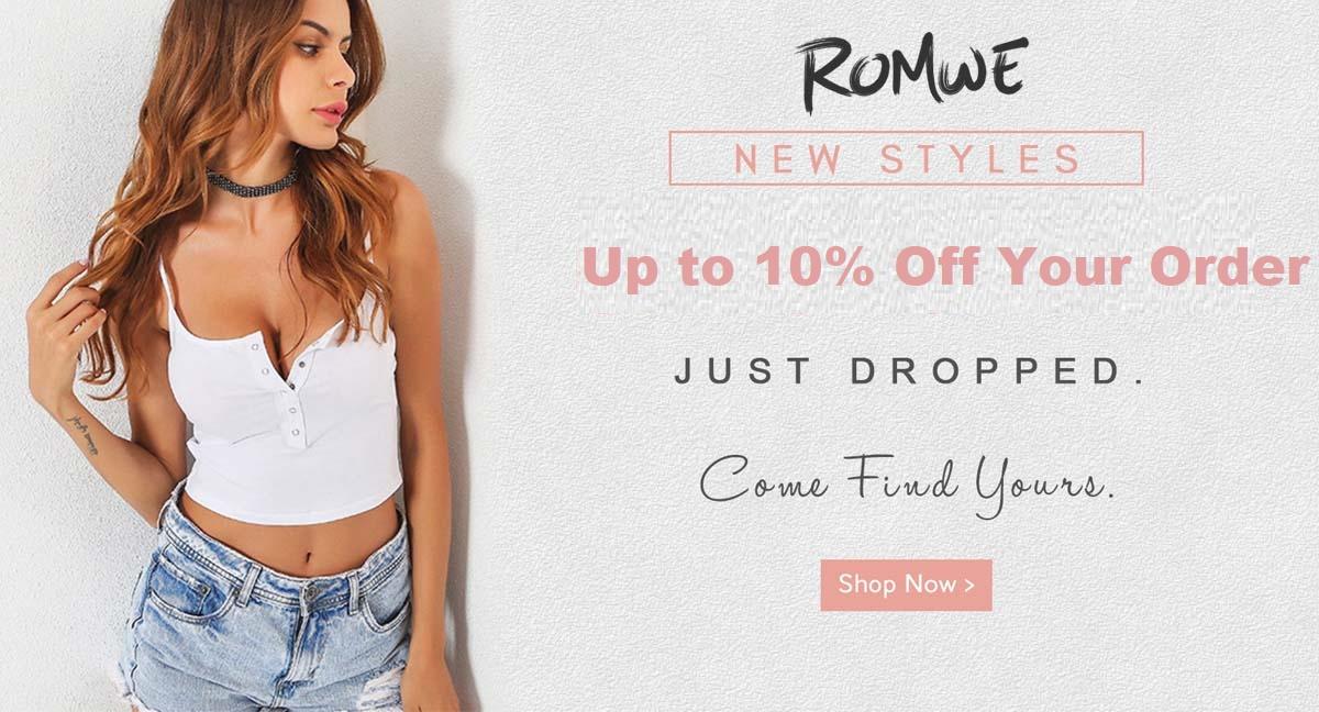 romwe 10 off
