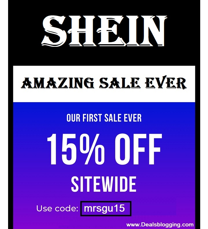 shein 15% off
