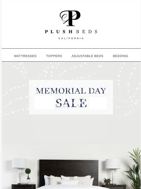 plushbeds MEMORIAL DAY SALE