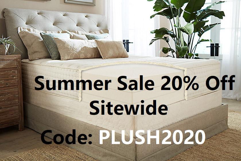 plushbeds summer sale