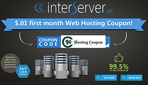 Interserver 1 cent coupon