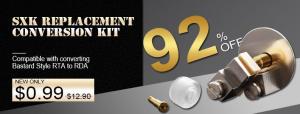 SXK Bastard Style RTA to RDA Replacement Conversion Kit
